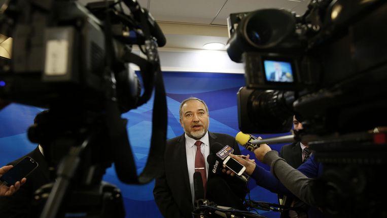 De Israëlische minister van Buitenlandse Zaken Avigdor Lieberman. Beeld ap