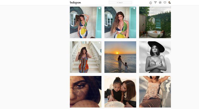 Het perfecte Instagram-account van Kylie Jenner, met 192 miljoen volgers één van de grootste influencers ter wereld. Beeld Instagram