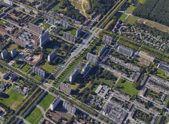 Op Antwerpen-Linkeroever is er veel hoogbouw.