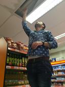 Waterschade bij de Poolse supermarkt in Hedel.