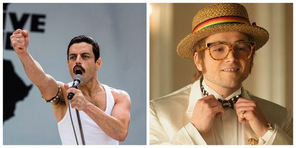 Rami Malek en Taron Egerton als Freddie Mercury en Elton John