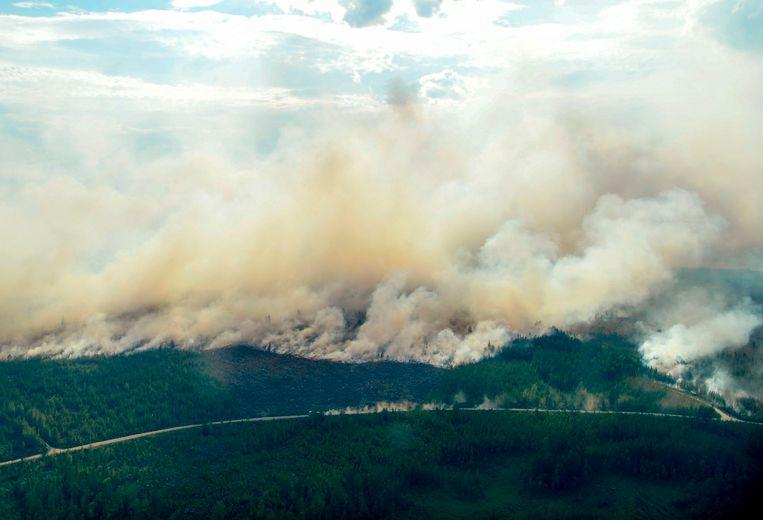 Bosbranden nabij Ljusdal in midden-Zweden.