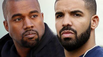 Totale oorlog tussen Kanye West en Drake breekt los