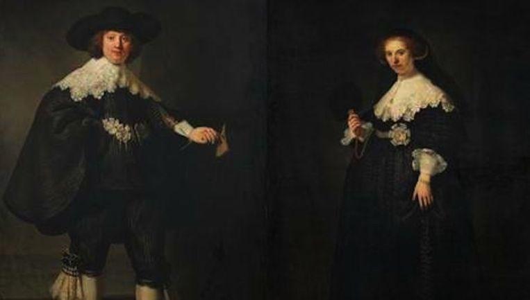 Het echtpaar Maerten Soolmans en Oopjen Coppit trouwde in 1634 Beeld anp