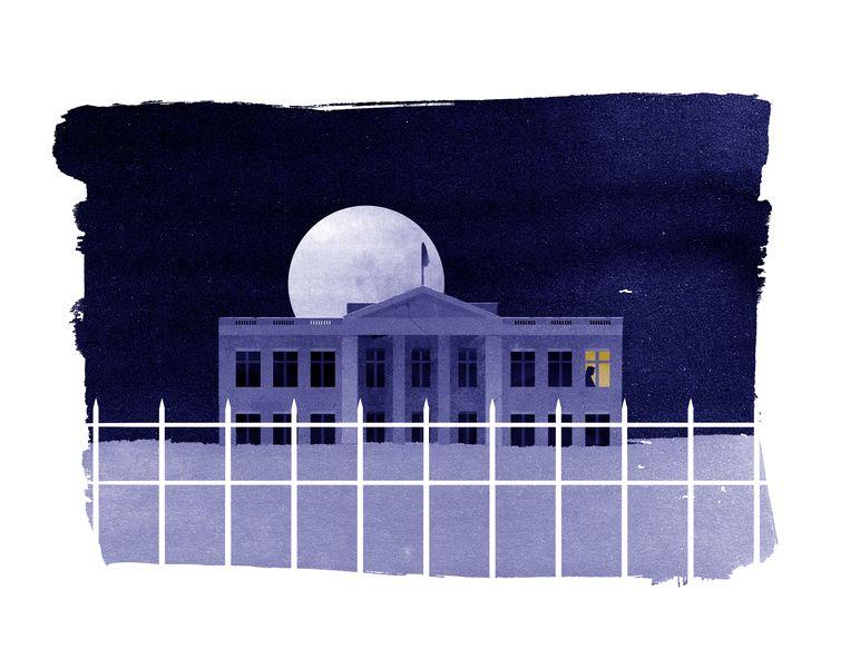 Illustratie van Het Witte Huis.  Beeld Silvia Celiberti