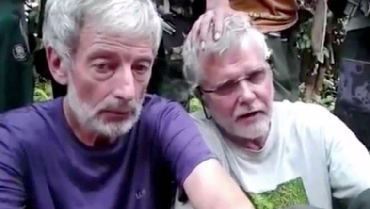 Robert Hall (links) en John Ridsdel. Beide Canadezen zijn door Abu Sayyaf vernmoord.