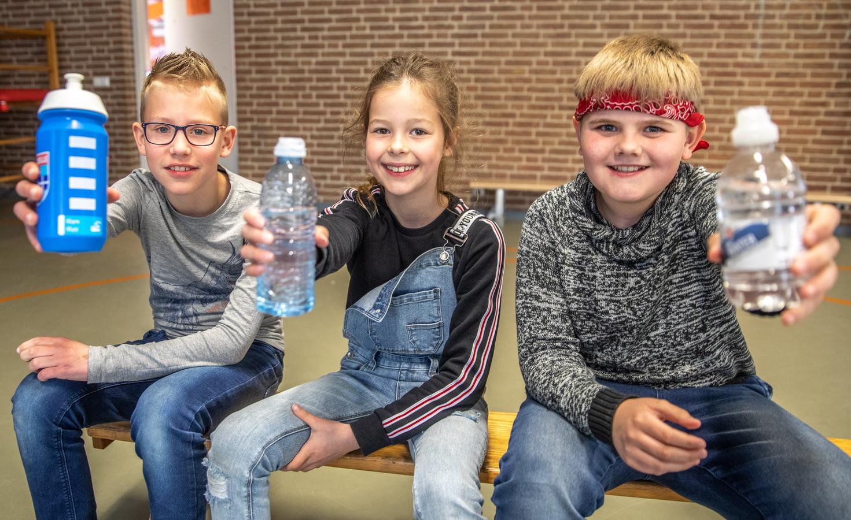 Mark, Julia en Jesse, leerlingen van basisschool de Ark in Zwolle.