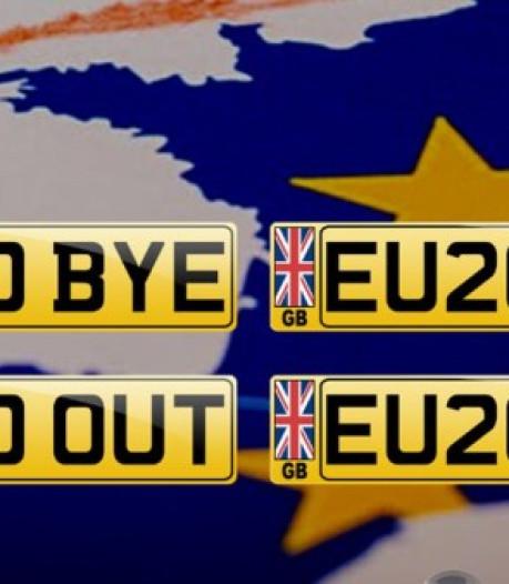 Britten betalen grof voor brexitkenteken