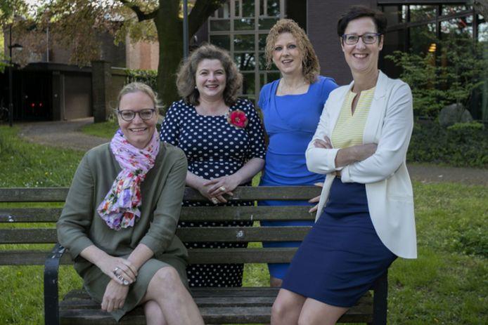 2018: de wethouders van Gemert-Bakel: Anke van Extel, Wilmie Steeghs, Inge van Dijk en Miranda de Ruiter (vlnr).