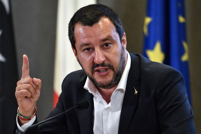 Italiaanse minister van Binnenlandse Zaken Matteo Salvini
