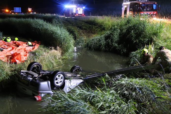 Auto te water in Stellendam
