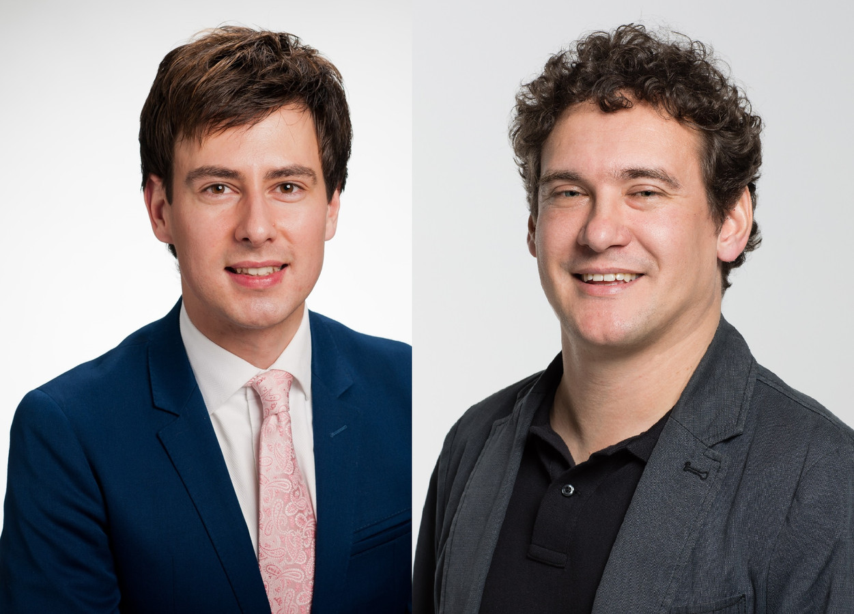 VVD'er Dylan Lochtenberg (links) en Martijn Beek (ProVeenendaal).