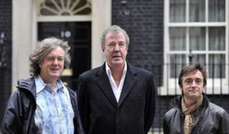 Van links naar rechts: James May, Jeremy Clarkson en Richard Hammond.