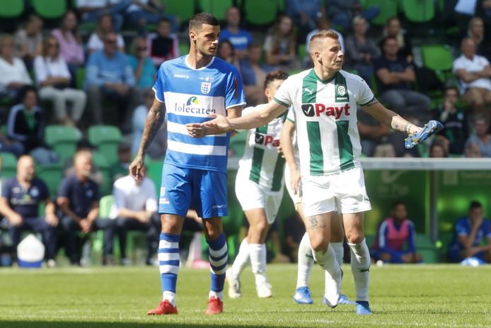 PEC Zwolle-spits Gianluca Scamacca scoorde voor Italië Onder 20, op bezoek bij Polen.