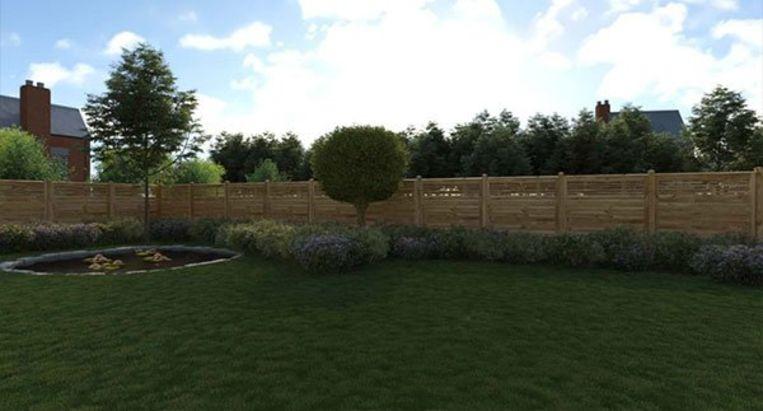 De ideale tuin, met een klein vijvertje