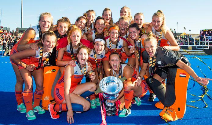 Een jaar geleden wonnen de Nederlandse vrouwen nog goud op het WK