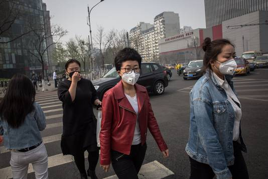 Luchtvervuiling in Beijing.