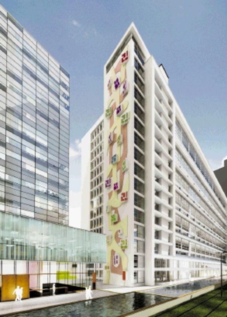 Rotterdam: Impressie Central Post door LSI Projectontwikkeling. (Ontwerp: Kraaijvanger / restauratie: Claus en Kaan.) Beeld