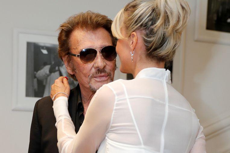 Johnny en zijn vrouw Laeticia. Beeld reuters
