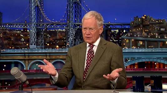 David Letterman kondigt zijn pensioen aan.