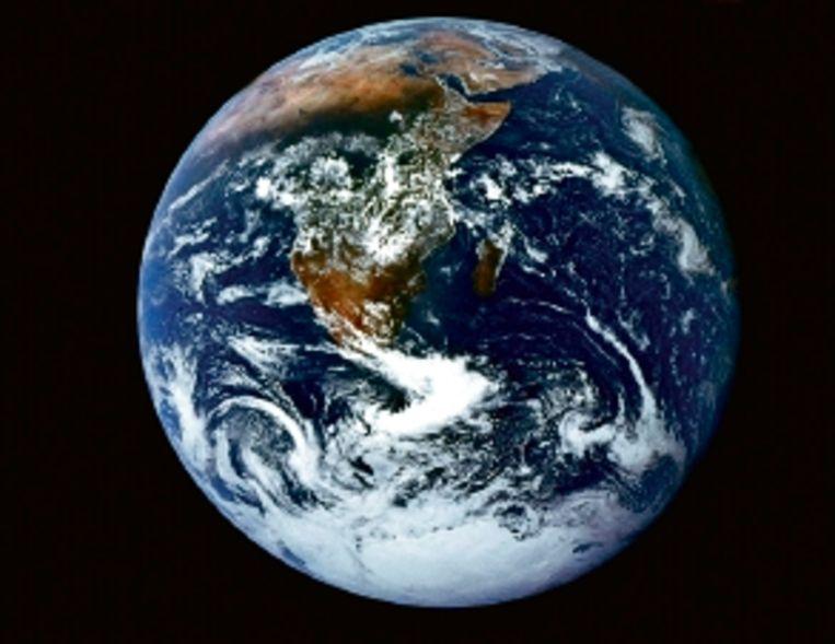 De aarde, zoals de bemanning van de Apollo 17 hem vastlegde. (FOTO AFP ) Beeld AFP