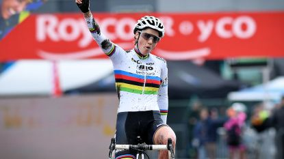 Sanne Cant demonstreert in Hoogstraten en is alleen leidster in klassement - Iserbyt beste bij de beloften