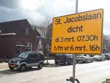 St. Jacobslaan vier dagen dicht, de AH XL aan dezelfde straat bijna vier weken gesloten