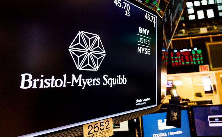 Farmaceutisch bedrijf Bristol-Myers Squibb.  Beeld EPA / Justin Lane
