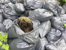 Zestig vuilniszakken met hennepafval gevonden in Dordrecht