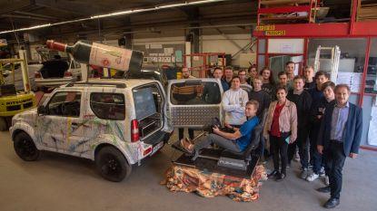Leerlingen autotechnieken bouwen Suzuki Jimny om tot simulator drinken rijden