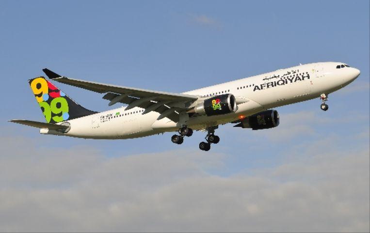 Een Airbus A330-200 van Afriqiyah Airways. (AP) Beeld AP