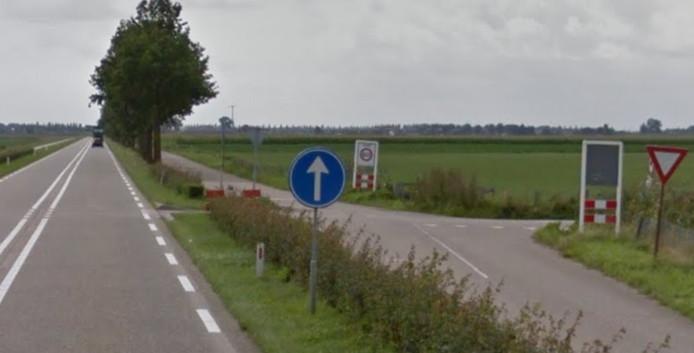 De N285 bij Wagenberg