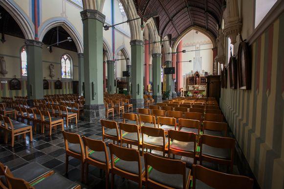 De lege kerk van Grote -Brogel.