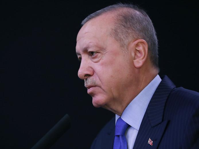 Le président turc Recep Tayyip Erdogan. La Turquie a commencé lundi à expulser des membres étrangers du groupe Etat islamique.