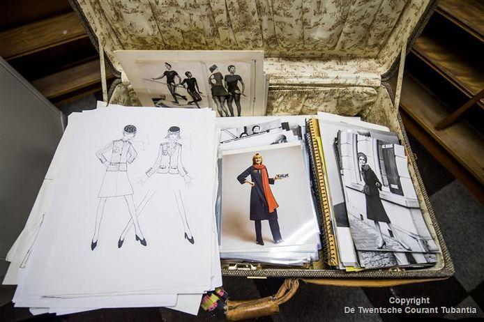 De koffer met inhoud van modekoning Dick Holthaus.
