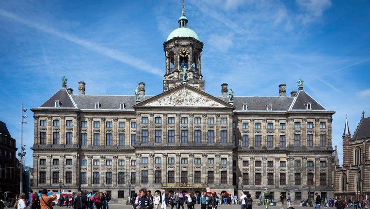 Het paleis op de Dam is vanwege de vijftigste verjaardag van koning Willem-Alexander komend weekend vijftig uur achter elkaar te bezichtigen. Beeld anp
