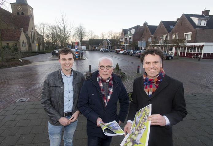 Leden van de werkgroep die zich buigt over de toekomst van het Thijplein.