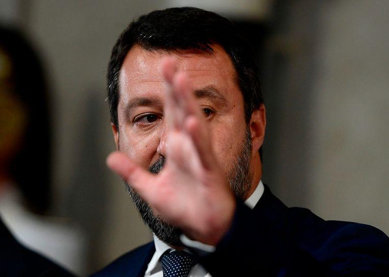Salvini is gewond, maar niet verpletterd. Beeld Filippo Monteforte / AFP