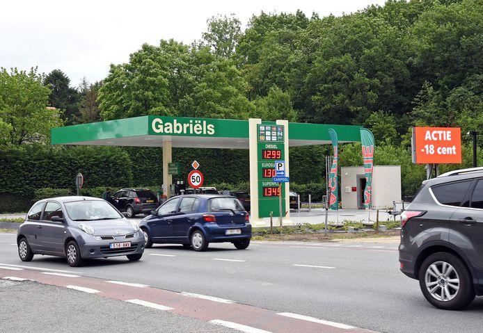 Het omstreden tankstation bij Kapellebrug.