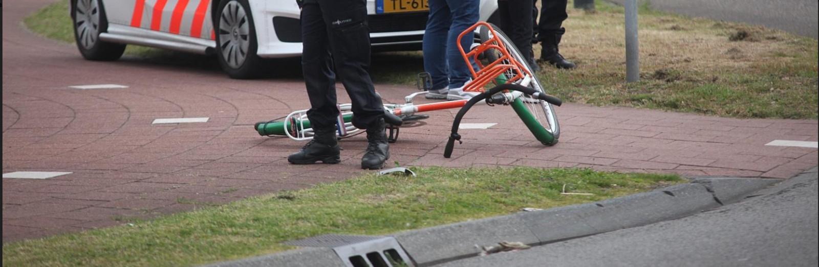 De fiets na het ongeval in Rijen.