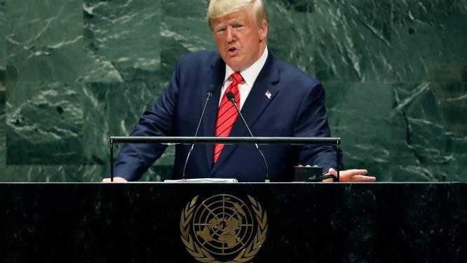 """Trump voor VN: """"Hopelijk hoeven we onze macht nooit te gebruiken"""""""