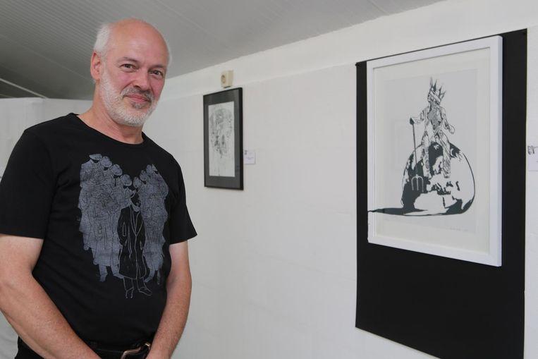 Grafisch kunstenaar Luc Van Loock.