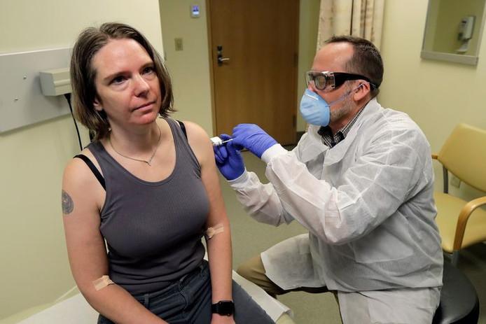 Jennifer Haller, de Seattle, est la première personne à avoir testé le vaccin contre le nouveau coronavirus, à la mi-mars.