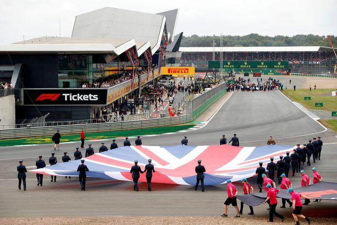 Het circuit van Silverstone, dat al 70 jaar op de Formule 1-kalender staat.