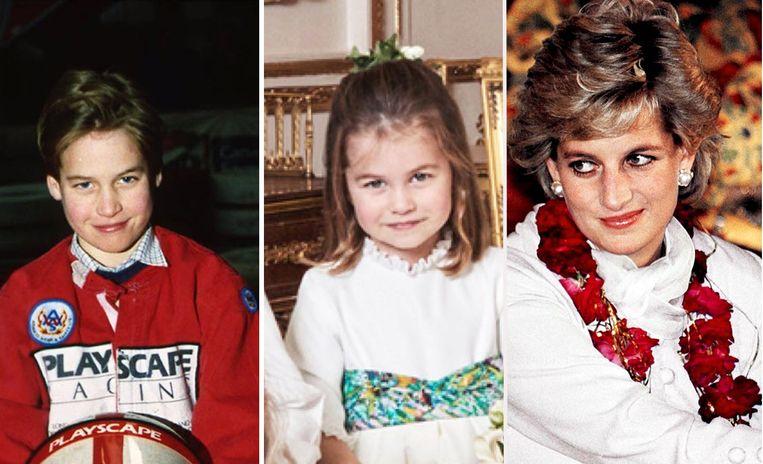 Prins William, zijn dochter prinses Charlotte en prinses Diana hebben exact dezelfde glimlach.