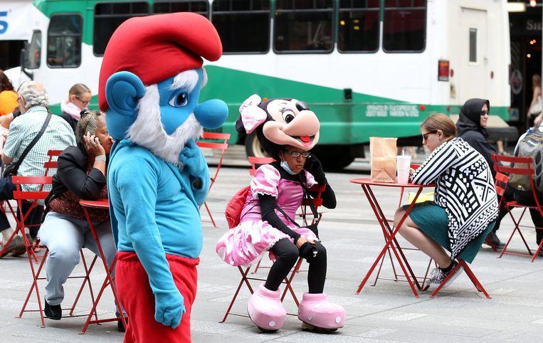 Minnie Mouse neemt een pauze. Beeld epa