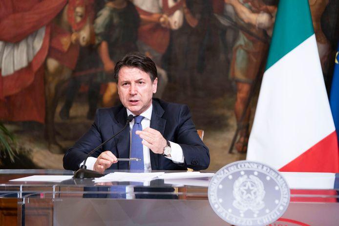 Le Premier ministre italien Giuseppe Conte