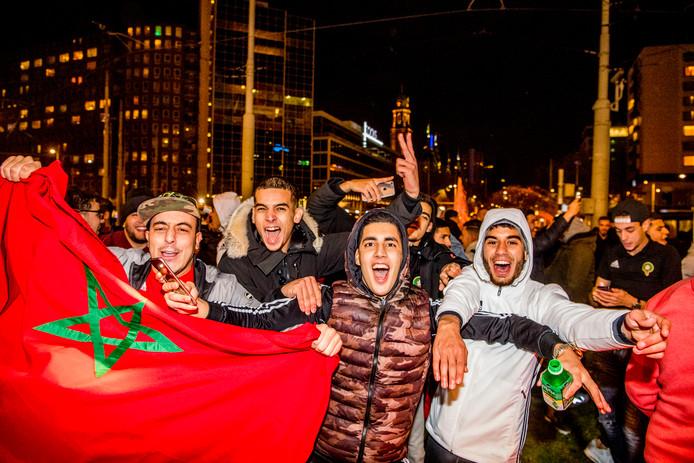 Marokko-fans vieren feest in Rotterdam, november vorig jaar: 'Dit is de hemel!'