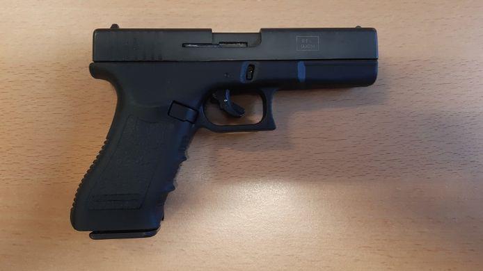 De verdachten gebruikten vermoedelijk dit alarmpistool.