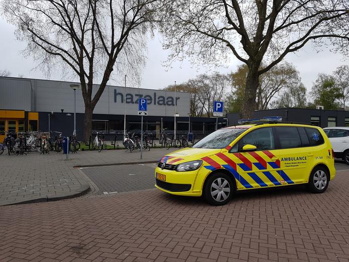 Meerdere kinderen in sporthal De Hazelaar werden onwel door graffitilucht.